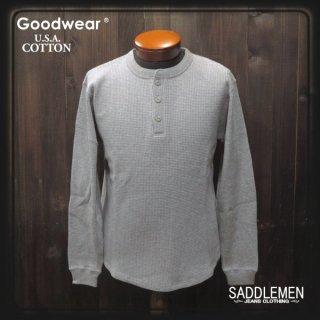 グッドウエア「USA COTTON」ワッフルロングTシャツ
