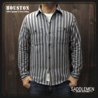 ヒューストン「WIDE STRIPE VIYELLA」ワークシャツ