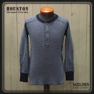 ヒューストン「HEATHER INDIGO」サーマルロングTシャツ