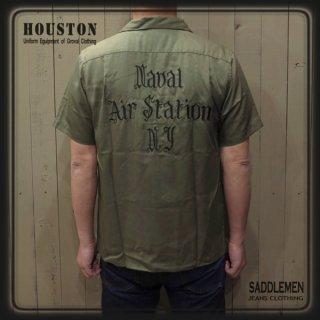 ヒューストン「Naval Air station」ボウリングシャツ