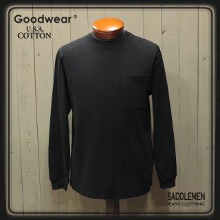 グッドウエア「USA COTTON」無地ポケット・ロングTシャツ