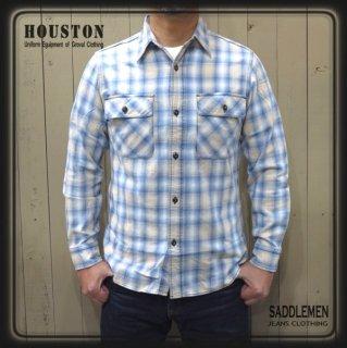 ヒューストン「INDIGO CHECK 」ワークシャツ