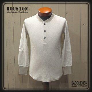 ヒューストン「HEATHER RIB STITCH」ヘンリーネック・ロングTシャツ