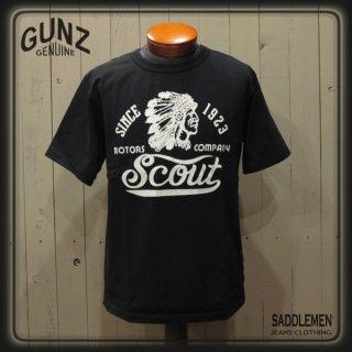 ガンズ「SCOUT MOTOR COMPANY」Tシャツ
