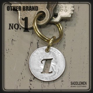 OTHER BRAND「25¢-NUMBER」キーホルダー