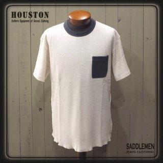 ヒューストン「GARMENT DYE」ワッフルTシャツ