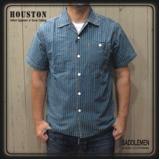 ヒューストン「INDIGO WABASH」オープンシャツ