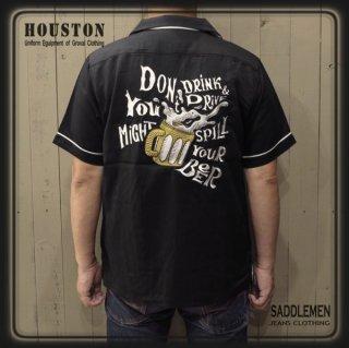 ヒューストン「BEER」ボウリングシャツ