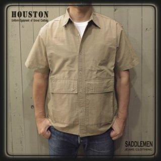 ヒューストン「COTTON RIPSTOP」ユーティリティーシャツ