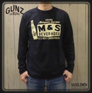 ガンズ「M&S BEVERAGES」ロングTシャツ