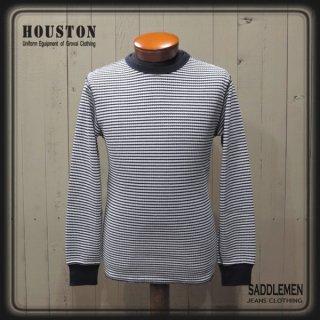ヒューストン「BORDER」ワッフルロングTシャツ
