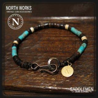 ノースワークス「Nickel 10¢ Hook Heishi」ブレスレット