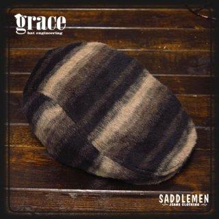 GRACE HAT ストライプ柄ハンチング