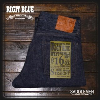 RIGIT BLUE 「16oz.SELVAGE  QUAD」ストレート