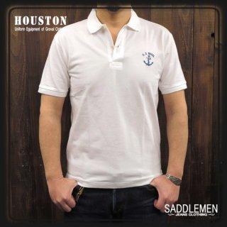 HOUSTON「U.S. NAVAL」ポロシャツ