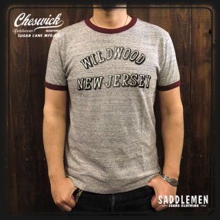 CHESWICK「WILDWOOD N.J.」リンガーTシャツ
