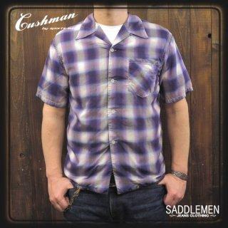 CUSHMAN「OMBRE CHECK」オープンシャツ