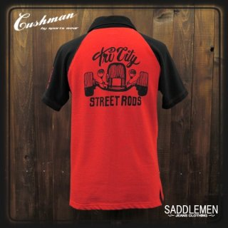CUSHMAN「STREET RODS」ポロシャツ