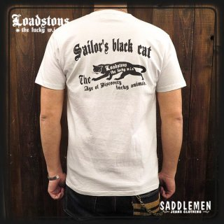 LOADSTONS 「SAILOR'S BLACK CAT」Tシャツ