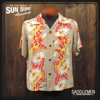 SUN SURF「NIGHT BLOOMING CEREUS」アロハシャツ
