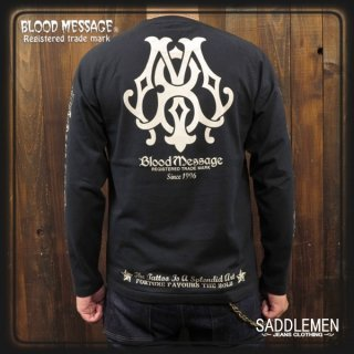 BLOOD MESSAGE「BM LOGO」ロングTシャツ