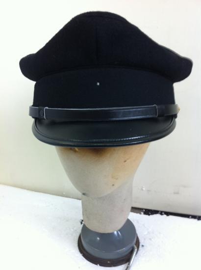 帽子 高級ハット 制帽 学生帽子 黒色/無印 M cm ・金具付 本格ハイクラス・1個、使用感無し。。今日注文関連小物4個更に20%オフ!