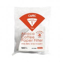 CAFEC アバカ円すいコーヒーフィルター1杯用(100枚入)