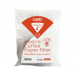 CAFEC アバカ円すいコーヒーフィルター2-4杯用(100枚入)