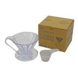 CAFEC 樹脂製円すいフラワードリッパーcup4(2〜4杯用)(メジャースプーン付)