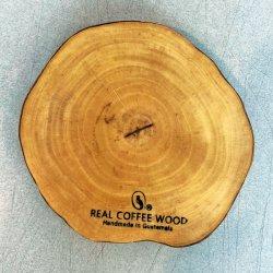 【樹齢50年】リアルコーヒーウッドコースター「整形切り株」(Real coffee wood coaster)