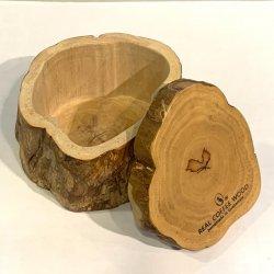 【樹齢35年】リアルコーヒーウッドケース「切り株」(大、蓋付)(Real coffee wood case)