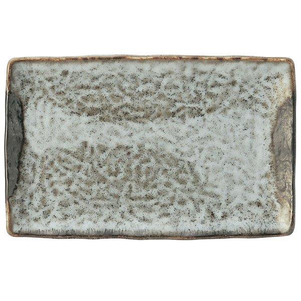 ギョウザ皿 山がすみ串皿大 和食器 餃子皿 長皿 日本製 業務用 65-51638011