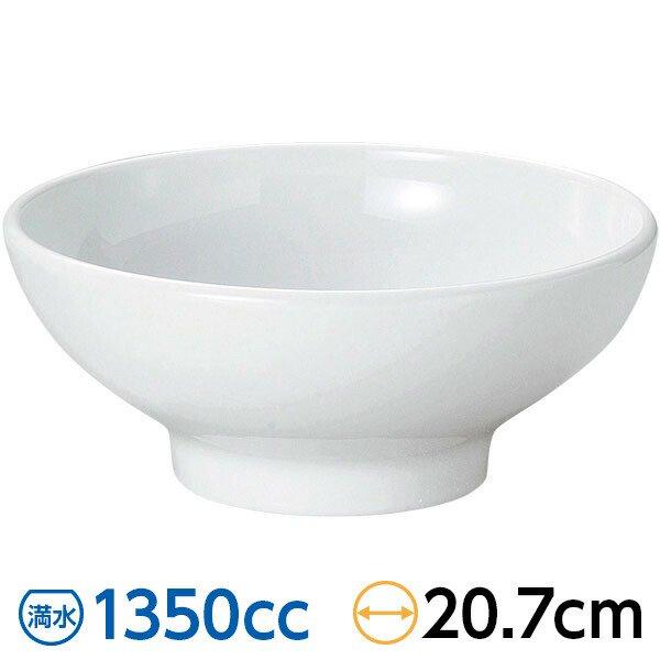ユーラシア ホワイト 20cmボール 白系 中華食器・アジアン食器 ラーメン丼 白いどんぶり おしゃれ 日本製 業務用  63-9-46-2