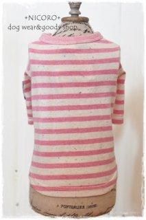 カラーネップボーダーTシャツ*PINK