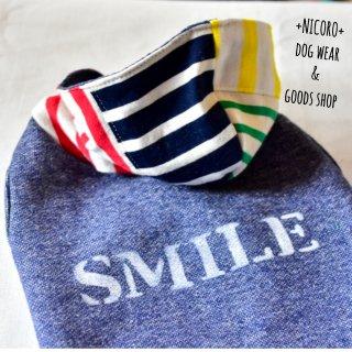 SMILEパーカー*ネイビー