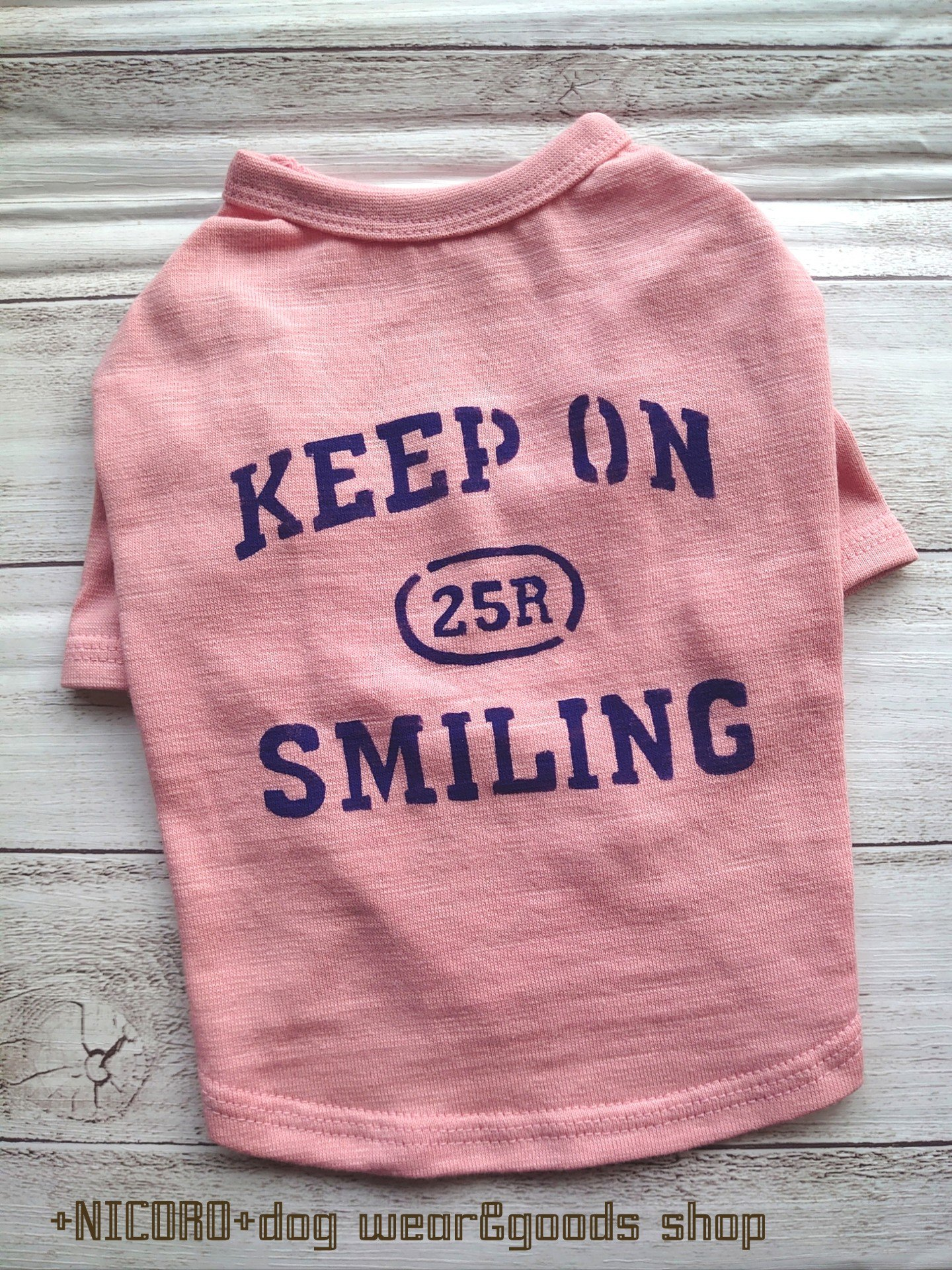 KEEP ON SMILING★Tシャツ*ピーチ*