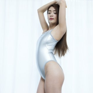 【N-999HL】メタリックスイムスーツ | Reflective Trim Metalic Swimsuit (Metalic Rubberized)