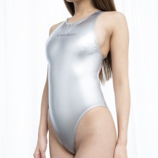 【N-998HLBIG】クラシックレーサースイムスーツ | Classic Racer Metalic Swimsuit (Metalic Rubberized)
