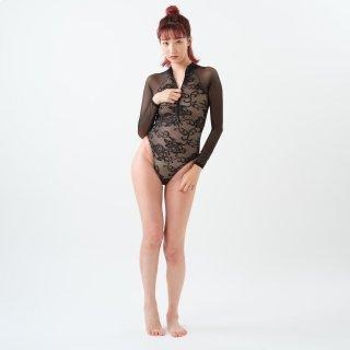 【N-LC-1006BIG】ストレッチレースロングスリーブレオタード / Stretch lace L/S leotard(ストレッチレース / Stretch lace)