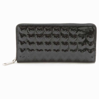 MARC JACOBS 001 BLACK EMBOSSED SOLID HEART CONTINENTAl WALLET 長財布【カードOK】PCのみ対応