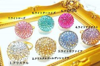 【globeライン】スワロフスキーのHalf of the globe ring(ギフト用BOX付)
