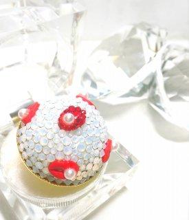 【globeライン】スワロフスキーのHalf of the globe ring〜Lip Jewelry〜 (ギフト用BOX付)
