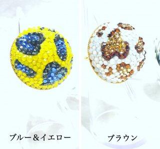 【globeライン】スワロフスキーのHalf of the globe ring〜Leopard design〜 (ギフト用BOX付)