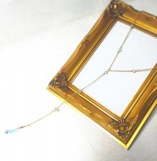 Shining drops necklace(スワロフスキーシャネルストーンのネックレス)