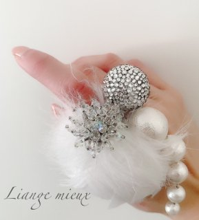 【 globeライン】Little Bird ring with Big globe
