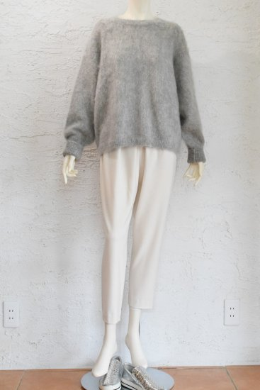 comm.arch(コム.アーチ) 手横編み機のみで仕上げた ふんわり軽く極上の肌触り Kid Mohair/Alpaca/Wool CrewSweater [Clouds]