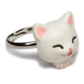 猫リング / 白 / RN-1006