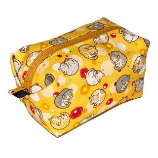 キャラメルポーチ CP-113Y アンモニャイト 猫 黄色