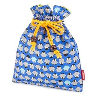 巾着 ポーチ KK-108V ペンギン Penguin 青紫
