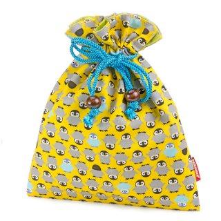 巾着 ポーチ KK-109E ペンギン Penguin 黄色